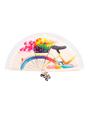 Abanico con una bicicleta