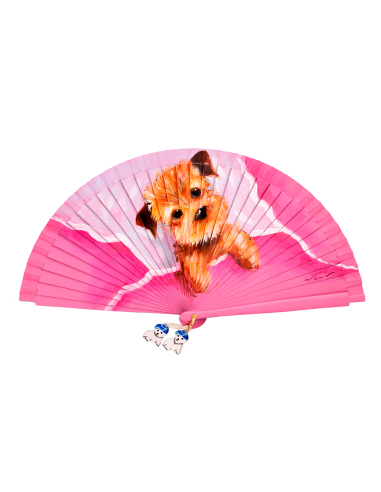 Abanico con un perrito